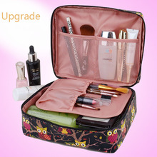 2016 Upgrade Neceser PU Zipper korean luxury Man Women Makeup Cosmetic Make Up Organizer beauty Toiletry bag Travel beauty case