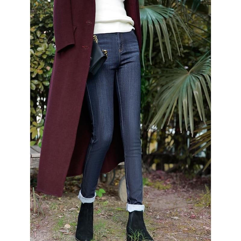 Femme Denim Femininas Crayon Zl1357 denim Noir Slim Vintage Pantalon Jeans Long Harajuku Blue Coréen Roupas Casual Black Vêtements qEwFd