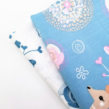 Cute Deer Printed Cotton Twill Fabric DIY Patchwork Sewing Quilting Material Textile Bedding Table Cover Cloth