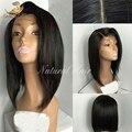 Brasileño de la virgen del pelo del frente del cordón pelucas llenas del cordón del pelo humano corto bob pelucas pelucas de pelo humano para las mujeres negras con el bebé pelo