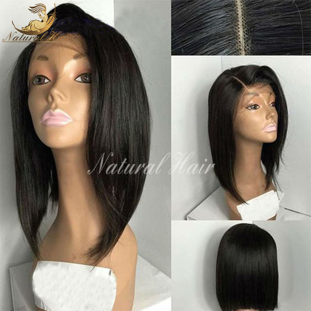 Brazilian virgin hair lace front wigs short human hair full lace human hair wigs for black women bob lace wigs with baby hair