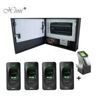 INBIO460 доступа 4 двери Управление Панель Система контроля доступа с FR1200 доступа отпечатков пальцев Управление Reader TCP/IP программного обеспечен