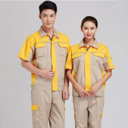 Set of Coat+Pants short sleeve mechanic uniform engineering uniform factory working coat men out of uniform