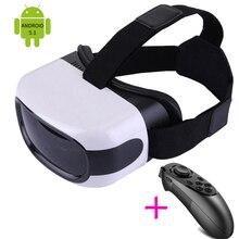 All-In-One 3D VRกล่องAndroid 5.1ความจริงเสมือนสมาร์ทเกมวิดีโอที่สมจริงแว่นตาไร้สายWifiบลูทูธกรณีH Eadmount H Elme