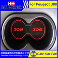 Car accessories for 2012-2016 Peugeot 308 anti slip sticker gate slot pad door mats carpet Interior Door Cup Holder