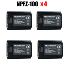 4x NP-FZ100 NPFZ100 NP FZ100 Durapro battery 2280mah for Sony A7R III A7 III BC-QZ1 A9/A9R Alpha9 Alpha9R Alpha 9S A7RM3 camera 3pc 2280mah np fz100 np fz100 battery led usb charger for sony np fz100 bc qz1 alpha 9 a7riii ilce 7rm3 a9 a9r alpha 9s camera