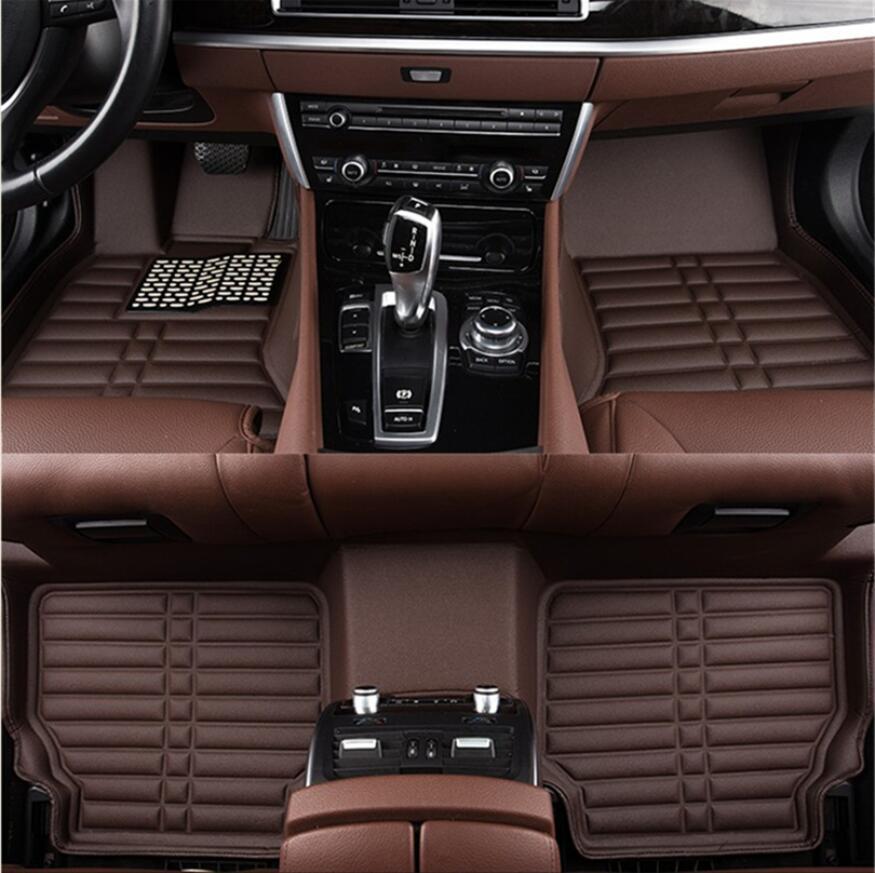 JINGHANG Auto tapis de sol pour BMW X1 E84 2010-2015 tapis de voiture étape de haute qualité tout nouveau tapis en cuir de broderie