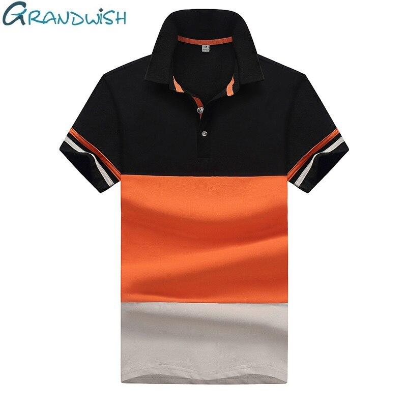 Grandwish Fashion Short Sleeve   Polo   Shirt Men Turn Down Collar Summer   Polo   Male Brand Shirt Casual Dry Fit   Polo   Shirts.D543