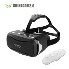 VR Shinecon 2.0 Helmet Cardboard 3D VR Glasses Mobile Phone 3D Video Movie for 4.7-6.0″ Smartphone