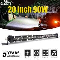 CO LIGHT Super Slim 6D 20 Inch 90W Led Light Bar Combo Led Beams Auto Work Light for Jeep ATV Lada Niva Off Road 12V 24V Led Bar