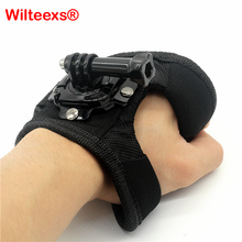Фотография Go Pro Accessories 360 Degree Rotation Glove style Wrist Hand Band Mount Strap For GoPro Hero 4 Hero 4 Session 3+ 3 2 Xiaoyi cam