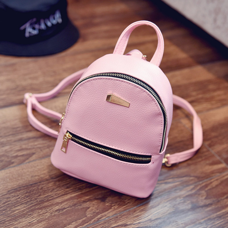 Fashion Women PU Leather Backpack Mini Teenager Girls Travel Shopping Backpacks LT88