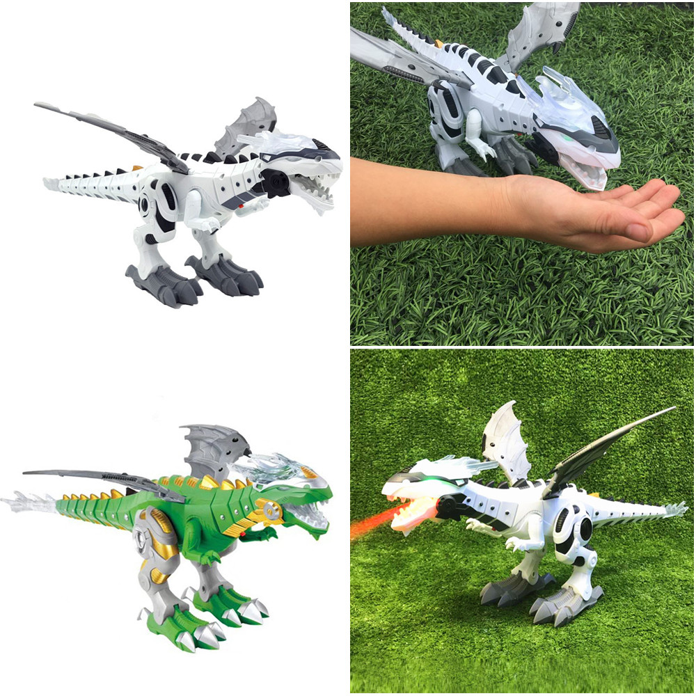 Electric Toys For Children Plastic Dinosaurios De Juguete Figure Dinosaur Model Toys Fire Breathing Water Spray Dinosaur K416