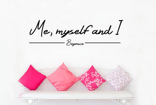 Q006 2016 Hot Quotes Me Myself And I Wall Sticker Beyonce Free