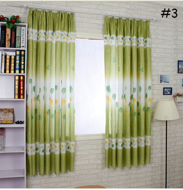 XinHuaEase Short Curtain Finished Product Kitchen Curtains Fabric Rustic Green Romantic Flower Living Room Bedroom Windows Door|bedroom windows|windows 7 phone pricebedroom divider - title=