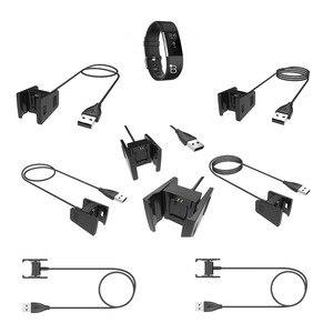 Image 5 - Değiştirilebilir USB şarj aleti Fitbit Charge2 akıllı bilezik şarj kablosu Fitbit şarj 2 için 3 bileklik Dock adaptörü 3 renk