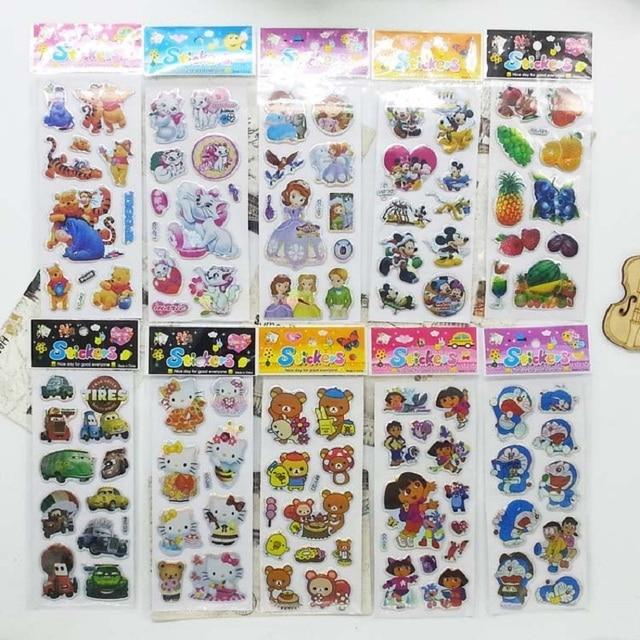 5pcs Puffy Stickers Kids Scrapbook Adesivos Message Twitter Large