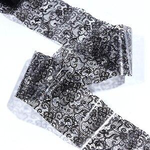 Image 4 - 100cm x 4cm noir dentelle transfert feuille Nail Art Sexy plein enveloppes fleur colle adhésif bricolage manucure curseur décoration outils BELB03 1