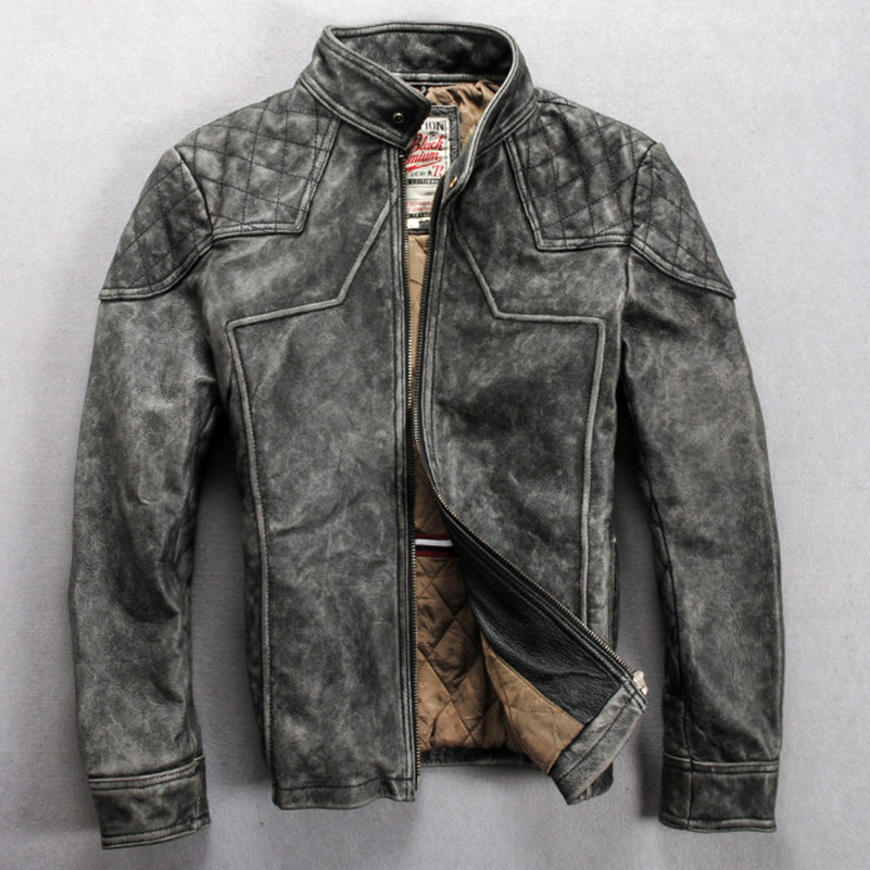 Online Get Cheap Gray Leather Motorcycle Jacket -Aliexpress.com ...