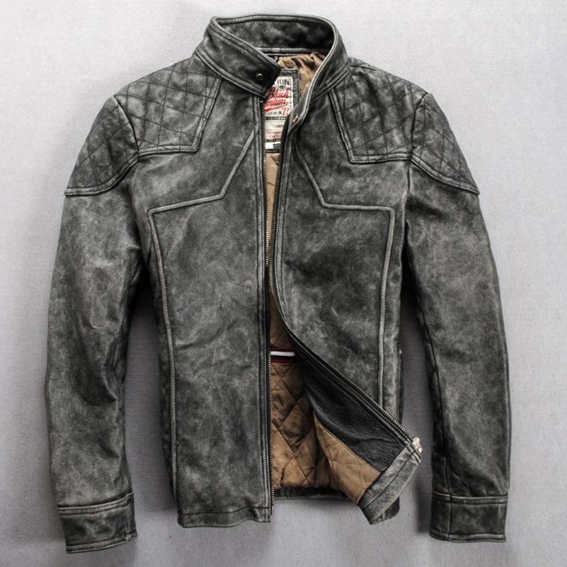 Popular Leather Biker Jackets for Men-Buy Cheap Leather Biker ...