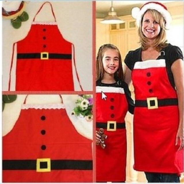 Новый 1 шт. красный фартук рождественские украшения для кухонные принадлежности для взрослых женщин Рождественский ужин вечерние принадлежности Санта Клаус
