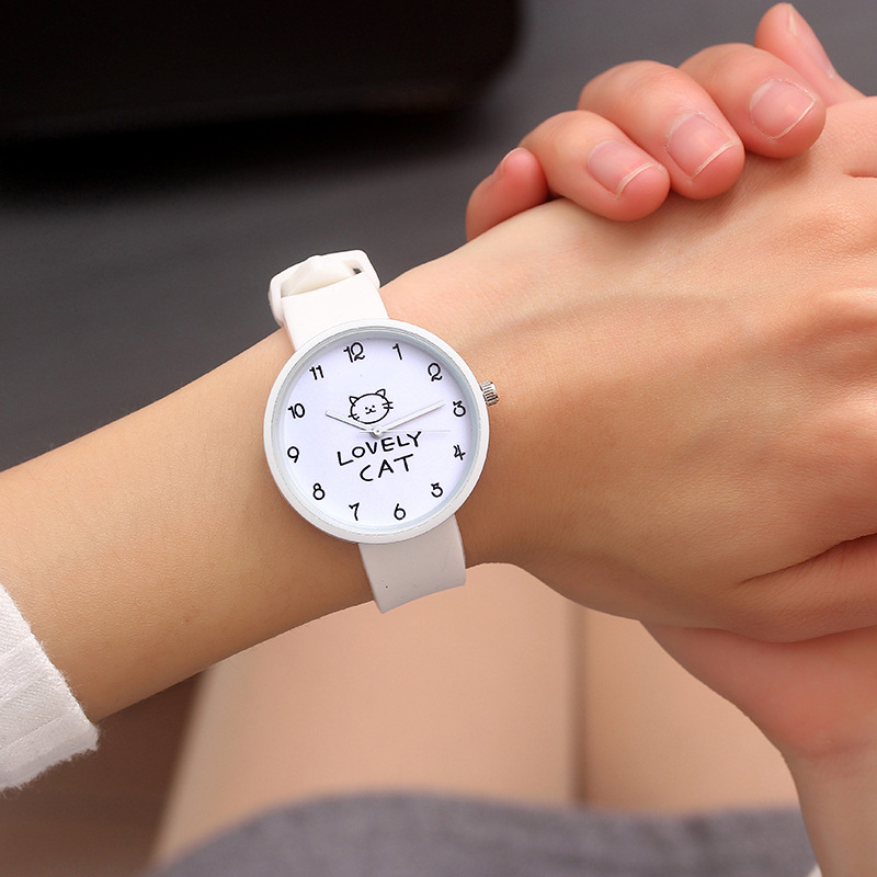 Fashion Silicone Wrist Watch Women Watches Ladies 2018 Quartz Wristwatches For Woman Clock Female Hours Hodinky Montre Femme Cat
