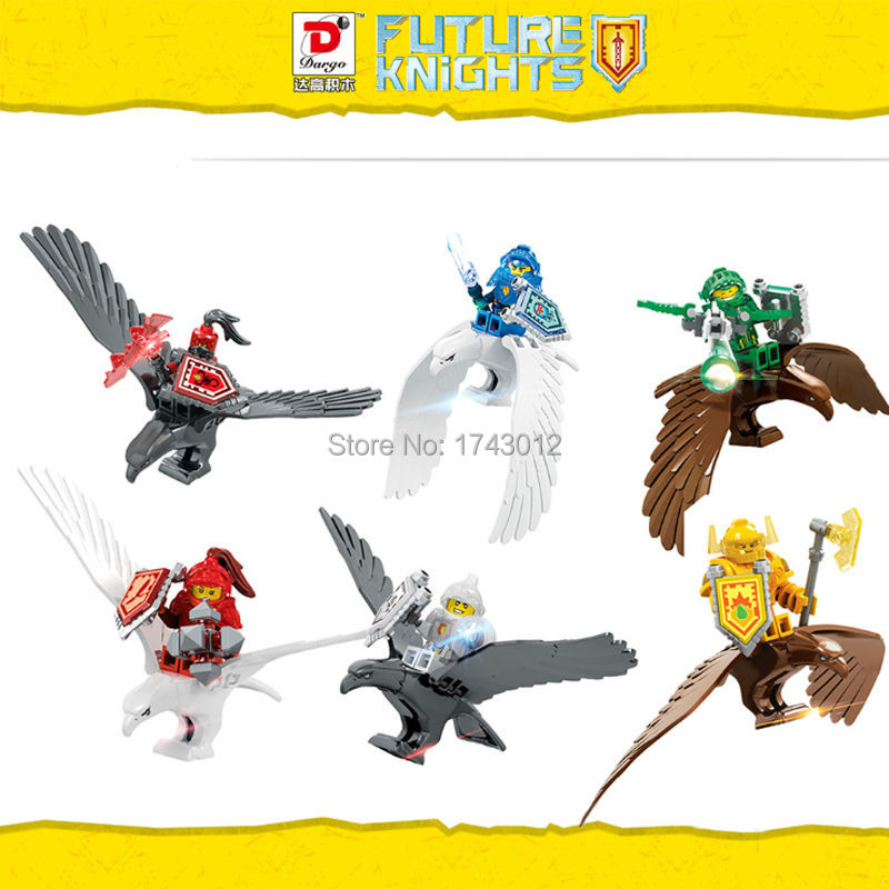 D904 Nexo Knights Future Knight Castle Warrior 6pcs/lot Building Blocks D904 mini Bricks Kids Toys Gift