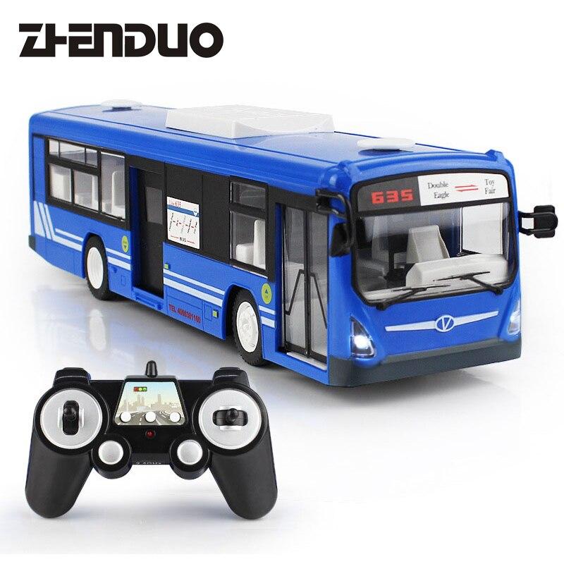Zhenduo 2.4 г Дистанционное управление автобус автомобиль зарядки электрический открыть дверь RC модель Игрушечные лошадки для детей Подарки