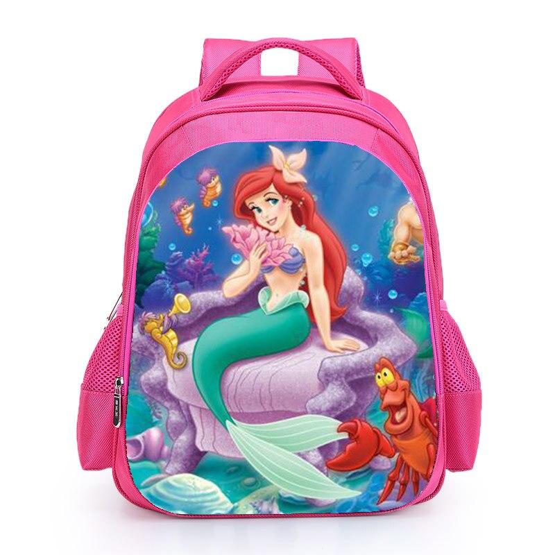 The Little Mermard Ariel Backpack 2018 Pink Princess Kids School Bag Fairy Tale Schoolbag Book Bags for Teen Girls mochila Bolsa (3)