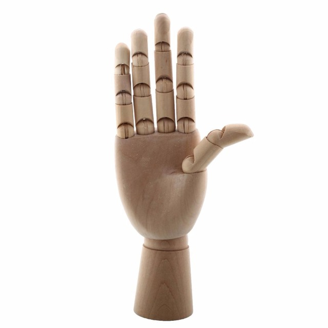 12 Inch Articulated Hand Wooden Flexible Mannequin Right Hand ...