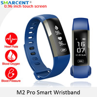 SMARCENT M2 Plus M2S Smart Fitness Bracelet Watch Blood Pressure Heart Rate Blood Oxygen 50 Words Message Display Smart Band 2