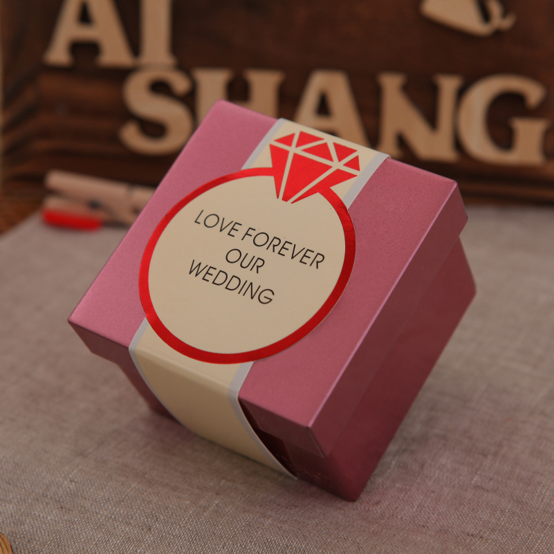Small White Soap Paper Packaging Box With Window Wedding Gift Design Decoration
