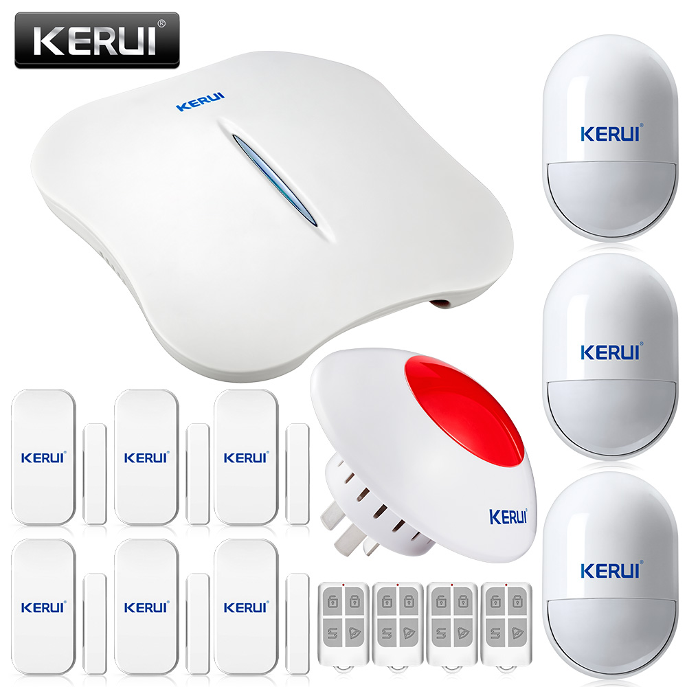 W1 WIFI PSTN Alarm System with Wireless Siren and Smoke Detector Wireless Alarm Systems Security Home Control by APP
