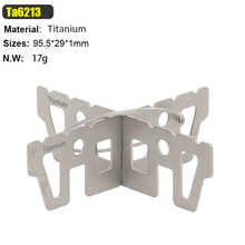 Tiartisan Portable Outdoor Camping Kinds of Titanium & Stainless steel Option Rack for Alcohol stove