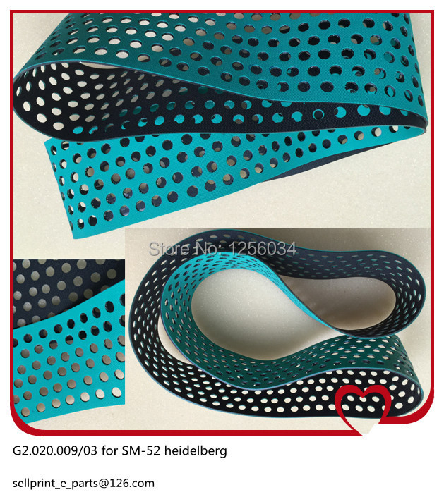 5 pieces G2.020.009/03 for SM-52, sm-52 suction tape size 960X60X2mm