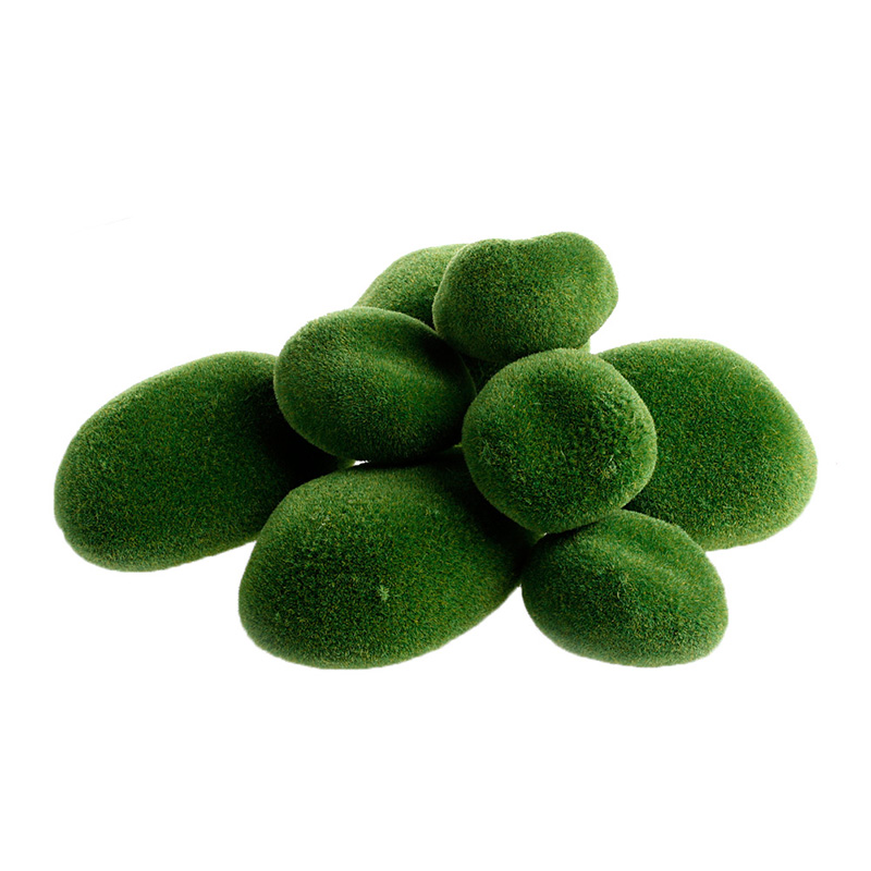 8Pcs Green Artificial Moss Stones Grass Plant Poted Home Garden Decor Landscape Z07 Drop Shipping