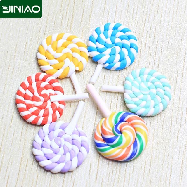 Hot Cute Polymer Clay Lollipop Craft Diy Micro World Bonsai Garden