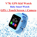 V7K Smartwatch Inteligente Bebé Niños Del Reloj Del GPS de Pantalla Táctil con cámara SOS Ubicación Tracker Dispositivo de Seguros para Niños Anti-perdidos PK Q90/Q50