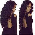 """6a série cabelo encaracolado Peruano onda profunda virgem cabelo 3 pçs/lote mista 8 """"-30"""" extensão do cabelo humano preto natural tecer cabelo extremidades completas"""