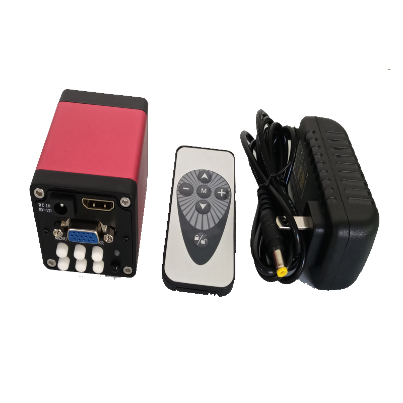 Remote control 13MP HDMI VGA industrial video digital Microscope Camera for soldering bga SMT mobile phone
