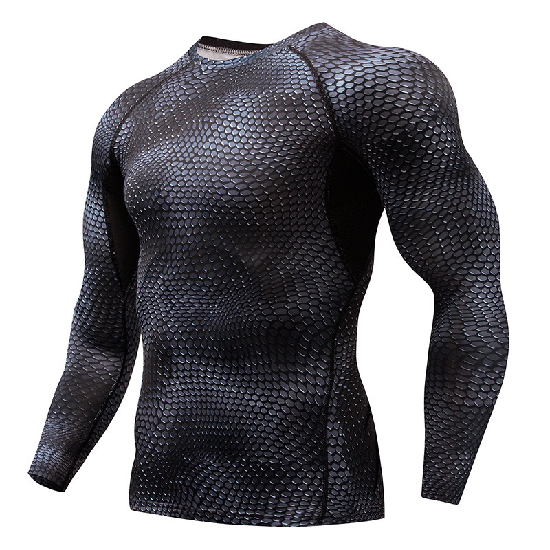 Compression Elasticity Sport Shirt Males Fast Dry Males's Working T-shirts Snake Fitness center Clothes Health Tops Rashgard Soccer Jersey Working T-Shirts, Low-cost Working T-Shirts, Compression Elasticity Sport Shirt Males...