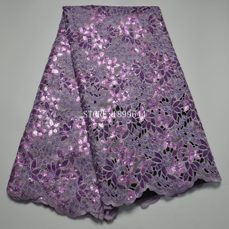 Top grade unique pink Handcut organza lace African Swiss tulle lace fabric with Lots of Beads Sequins Stones 5 yards ML1300