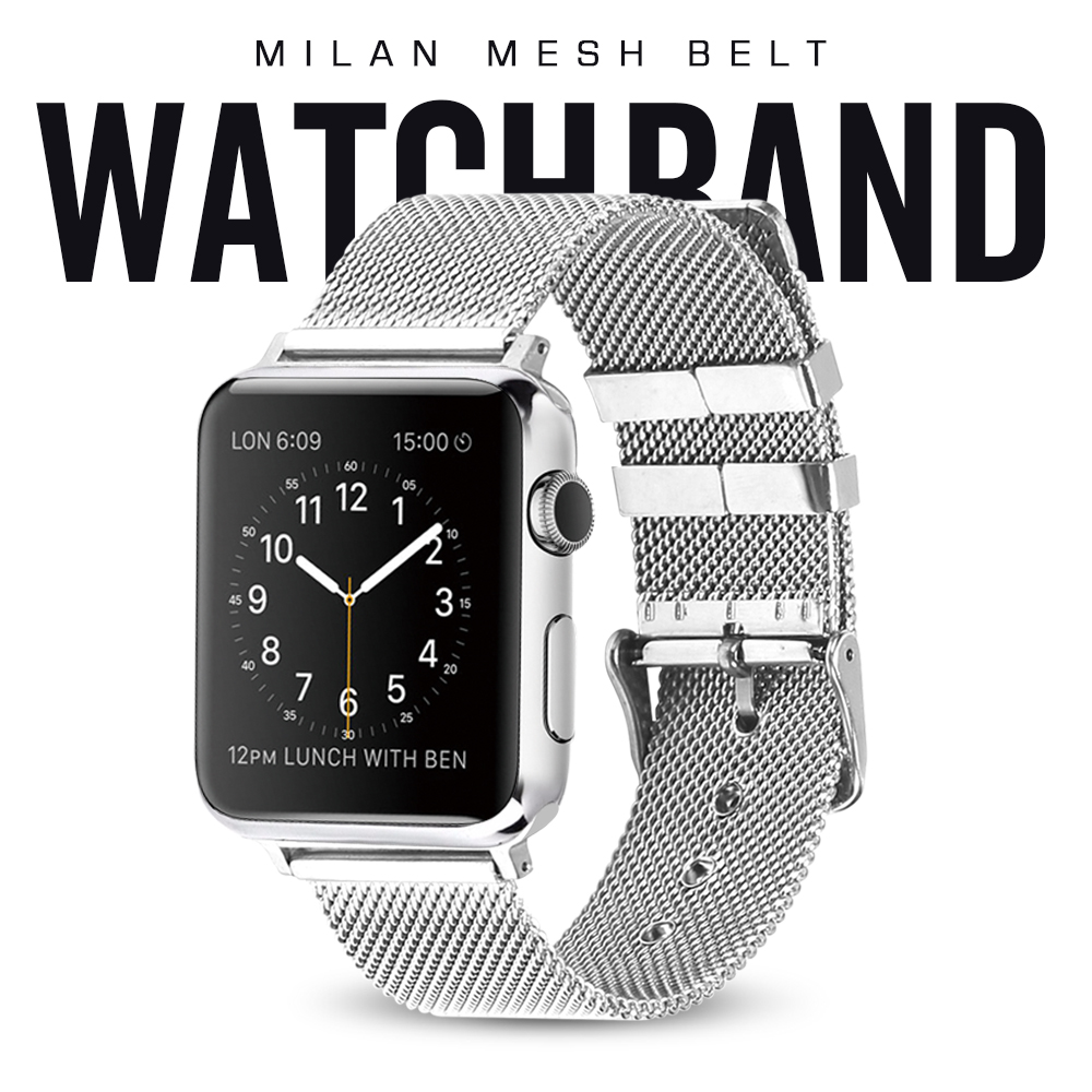 milanese loop for apple watch Series 1 2 band for iwatch stainless steel strap Magnetic adjustable buckle with adapters цена