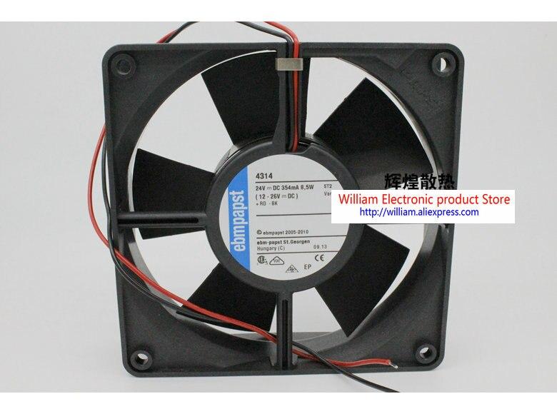 New Original EBM PAPST TYP 4314 5W 24V 120*120*32MM dual ball Inverter cooling fan new original ebm papst 4650n 465 a02 ac230v 120 120 38mm heat resistant cooling fan
