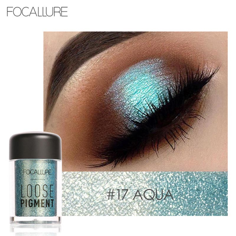 2017 New Glitter Crystal Eyeshadow Loose Powder Makeup Waterproof Shimmer Eyes Pigments Easy To Wear Brand Focallure Eyeshadow