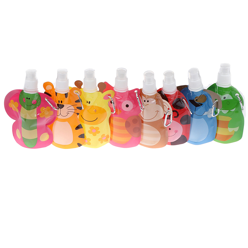 380ML Reusable Food Pouch Baby Packaging Reusable Squeeze Pouch Plastic Smoothie Squeeze Bags Refillable Lock Bag