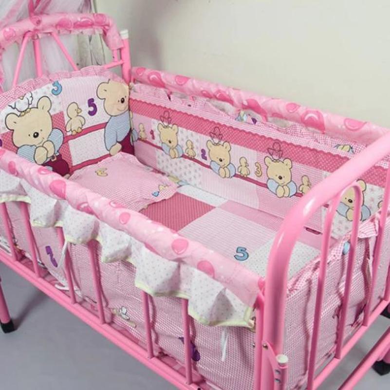 Honest Baby Bedding Set Bumper Cotton Carton Print Soft Baby Bedding Bedding Sets