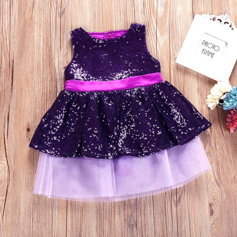 1 2 3 4 Year Baby Children Princess Dress 2018 New Summer Girls Party Wedding Clothes Sleeveless Bow Kids Dresses for Girls 6