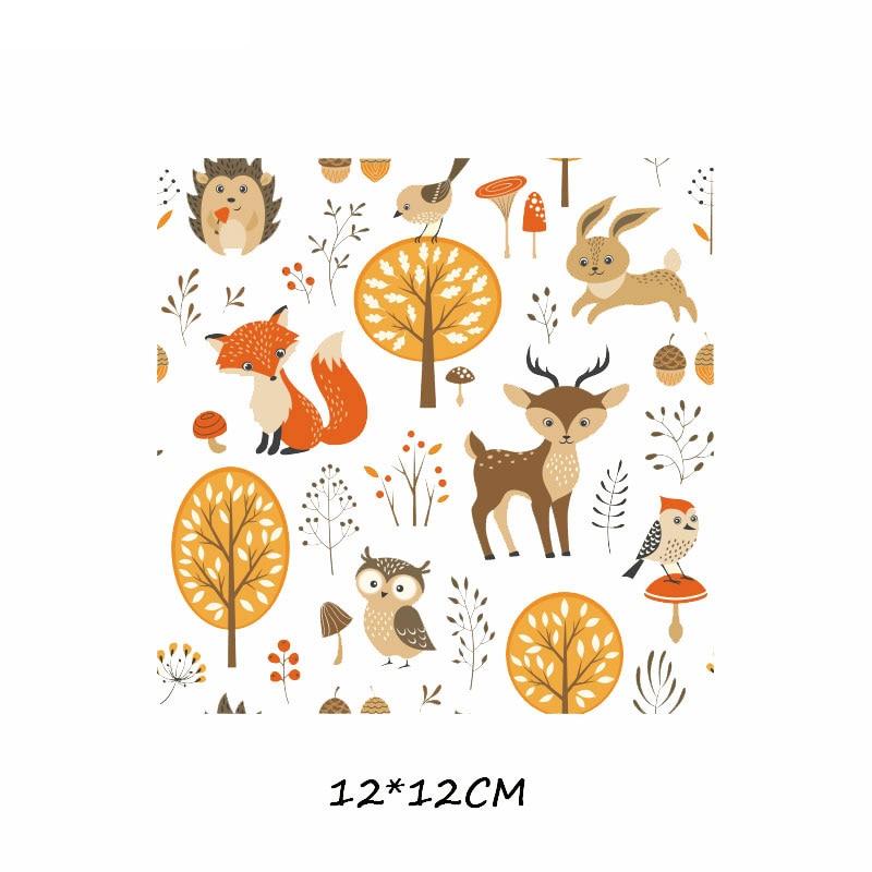 Железные милые нашивки в виде животных набор для детей Одежда DIY Футболка аппликация теплопередача виниловая нашивка единорога наклейки термопресс - Цвет: 474