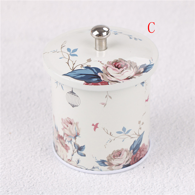 4Pattern Colorful Tin Box Sealed Jar Packing Boxes Jewelry Candy Box Small Storage Boxes Cans Coin Earrings Headphones Gift Box